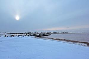 Seaside of Sventoji in winter - 11